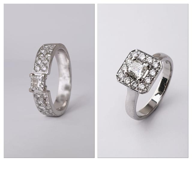 Vanhasta sormuksesta timantit uuteen runkoon.